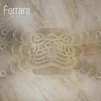 Декоративная штукатурка с трафаретным рисунком