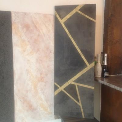 Эффект «Геометрия» из декоративной итальянской штукатурки Ferrara design