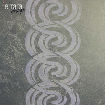Декоративная краска с песком хамелеон и рисунком