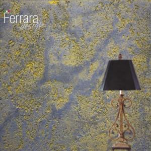 Декоративная штукатурка под камень с золотыми кавернами