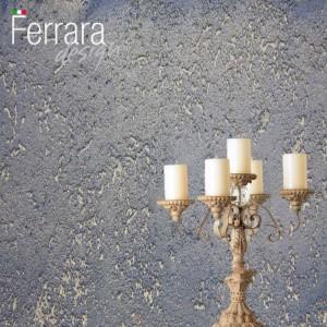 Декоративная штукатурка арт-бетон с серебряными кавернами